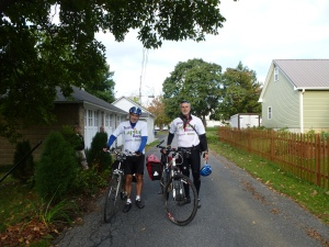 Dave and Bob ready to start their 200 mile ride!