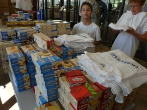 Gannon with Tastykakes and Tastykake t-shirts!