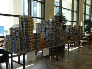 Our table stacked sky high with Tastykakes.
